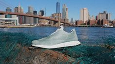 Adidas seriously just made a running shoe from garbage. According to TreeHugger, Adidas used illegal fishing nets in its newest designs as a way to raise awareness around ocean pollution and climate change issues. The company is working in… Adidas Superstar, Real Madrid, Adidas Tumblr Wallpaper, Bon Point, Baskets Adidas, Adidas Brand, Sneakers Adidas, Trainers Adidas, How To Make Shoes