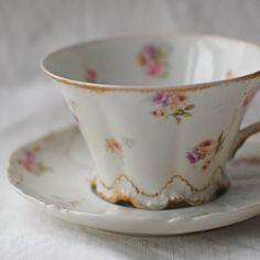 Limoges Tea Cup Saucer Haviland France French by stonebridgeworks, $15.00