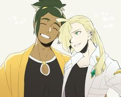 I don't ship it, exactly, but I like this look of Aether Gladion. Edgy and clean at once.