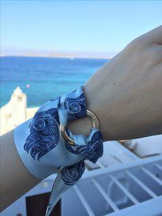 Silk Philosophy wrist scarf bracelet