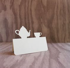 Place Cards Tea party teapot and teacup Set of 50. $16.50, via Etsy.