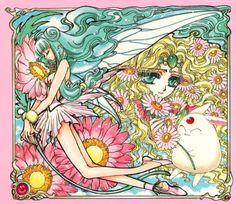 プリメーラ Primera、エメロード姫 Emeraude、モコナ Mokona:魔法騎士レイアース Magic Knight Rayearth - by CLAMP