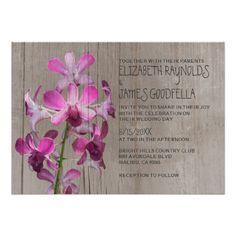 Rustic Orchid Wedding Invitations Personalized Invite
