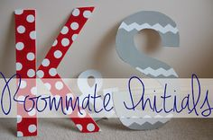 Roommate Initials DIY @ Sixteen Thirteen #college #dorm #DIY