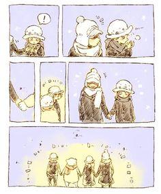 One Piece, Trafalgar Law, Bepo, Shachi, Penguin