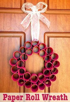 Christmas wreath for door!
