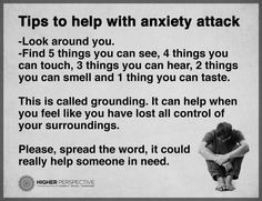 help during an anxiety attack