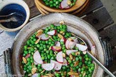 Sweet Pea, Toasted Almond & Radish Salad - Eat Simple Food