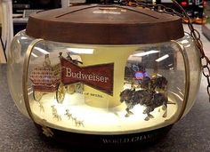 VINTAGE BUDWEISER CLYDESDALE PARADE CAROUSEL MOTION LIGHT Works ...