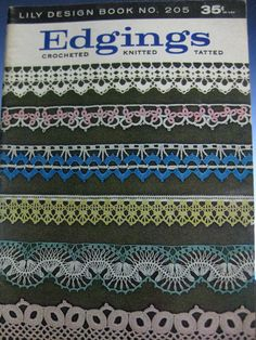 1971 Vintage Lily Design Book 205 Edgings-Crocheted, Knitted