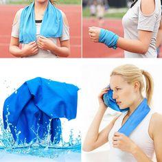 BangGood $3.38  30x90cm Summer Iced Towels Outdoor Sport Magic Microfiber Cooling Towel