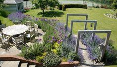 A contemporary country garden Seaside Garden, Coastal Gardens, Garden Oasis, Summer Garden, Hillside Landscaping, Landscaping Plants, Farm Gardens, Outdoor Gardens, Landscape Design