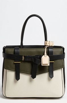 Reed Krakoff 'Boxer I' Leather & Canvas Satchel available at Nordstrom