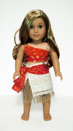 Turn your doll into DisneyPrincess Moanawith this beautiful outfitmade withprinted gauze, cotton andjute fabrics withVelcro closure in the back. This list