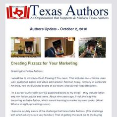 Helping Indie Authors find new ways to market themselves and their books that is cost effective at the same time. Here is an example of one of the many partnerships we have created for Indie Authors. Corporate America, Authors, Indie, Texas, Ads, Marketing, Learning, Books, Livros