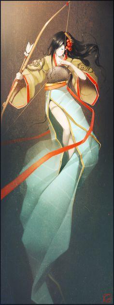 Yabusame lady