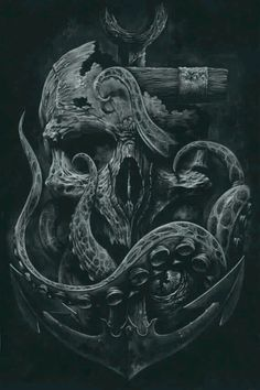 Tentacle and Skull art