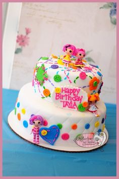 Cute Lalaloopsy cake http://media-cache5.pinterest.com/upload/21814379414579638_QvzLn1Hz_f.jpg amyzam lalaloopsy party ideas