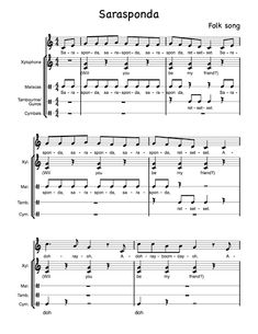 Elementary Music Blog/ Sarasponda