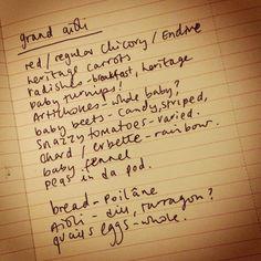 Grand aioli notes