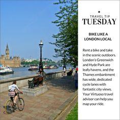 Travel Tip Tuesday: Bike like a London local.