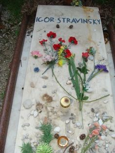 The grave of Igor Stravinsky - Cimitero di san Michele, Venice, Italy https://jrravatar.wordpress.com/page/2/