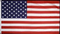 Drapeau Américain   87 cm par 154 cm avec deux Oeillets en acier
