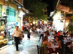 Plaka, Athens. It's a bit tacky and touristy, but I love wandering around the shops of an evening…