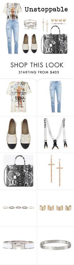 """Unstoppable"" by anaelle2 ❤ liked on Polyvore featuring Vivienne Westwood, Paige Denim, Chanel, Yves Saint Laurent, LJ Cross, Henson, Maison Margiela, Hermès, Cartier and Alexander McQueen"