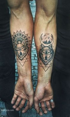 Trendy travel the world tattoo dr. who Ideas - Trendy travel the world tattoo dr. who Ideas - Wolf Tattoos, Twin Tattoos, Paar Tattoos, Couple Tattoos, Animal Tattoos, Forearm Tattoos, Tattoo Thigh, Badass Tattoos, Sexy Tattoos