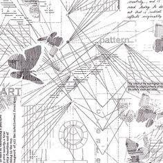 Half Yard  1/2 Yard of  Bauhaus Dissection  by LlamaFabrics