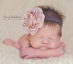 Toffee Baby Headband by fabflowerheadbands on Etsy