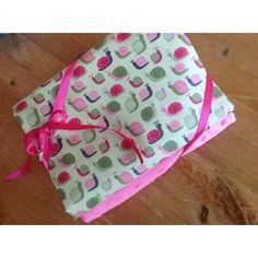 Makower Little Snails & hot pink plush