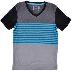 SGR V Neck Tee Shirt Stripe Short Sleeve Blue Fashion Mens Authentic Top S-XL | eBay