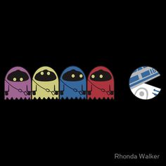 PAC-MAN vs Star Wars, pop art, illustration,a shirt I would totally wear. Pac Man, Power Pop, Geeks, Kit Fisto, Jar Jar Binks, Dark Vader, Pop Art, Culture Pop, The Force Is Strong