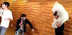 Junjin is recording his part in Orange MV,... - SHINHWA ORANGE PRINCESS