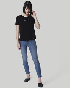 4a2e21955c4b Born to do it differently  Sport that rebellious streak with pride in this  black text print tee from Vero Moda. Scale up your weekend look