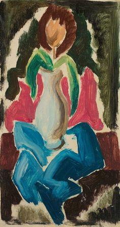 Thomas Hart  Benton, 'Still Life, Flower'  Regionalism