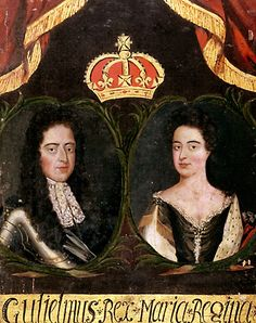William III and Mary II - who ousted her father (his father-in-law/uncle) James II from the throne with the Glorious Revolution of 1688/89.