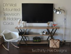 DIY Wall Mounted Television & Hid   den Cords
