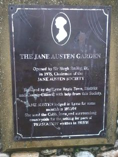 The Jane Austen garden in Lyme Regis