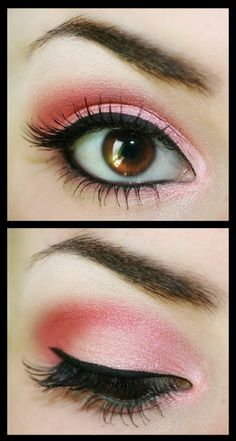 Try a fun pink eyeshadow with a bold black liner. Create your favorite look with products from Beauty.com!