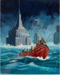 Beyond the Black Horizon. Ed Valigursky cover art for Fantastic Science Fiction (June 1955).