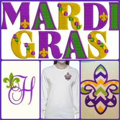 Design your MARDI GRAS Tee Shirt Adult & Child Sizes by BellaTulle, $20.00