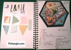 2020 crazy quilt block 2 studio journal