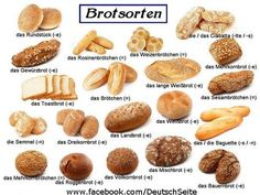 Brotsorten- Deutsch -where hace you been all my lifeeeee