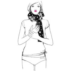 ana_lee: Garance Dore: воздушная ❤ liked on Polyvore featuring drawings, illustrations, art, fashion sketches and fillers