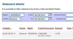 Anyone can make money with ACX without leaving home! I am getting paid daily at ACX and here is proof of my latest withdrawal. This is not a scam and I love making money online with Ad Click Xpress. Join for FREE and get 10$ Tripler pack from ACX to get you started earning 3% per day. Earn 150% on Tripler Packs in 60 days. Spend as much as you want. My #13 Withdrawal Proof of online income from Ad Click Xpress Tripler.