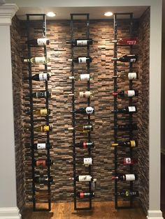 Looking for wine storage ideas for small spaces? Converting small spaces is our passion at . Here are some wine storage ideas for small spaces. Wine Cellar Modern, Glass Wine Cellar, Home Wine Cellars, Wine Cellar Design, Modern Wine Rack, Wine Rack Wall, Wine Wall, Wine Storage, Wine Bottle Storage Ideas