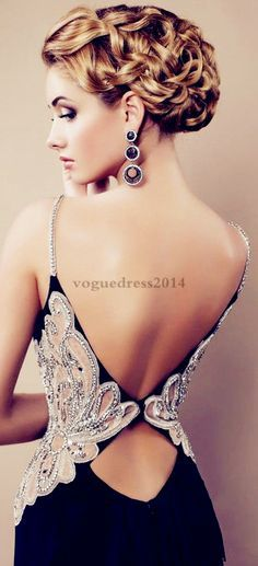 sexy prom dress prom dresses>>>look at her hair! Elegant Dresses, Pretty Dresses, Sexy Dresses, Formal Dresses, Dresses 2016, Sexy Gown, Classy Gowns, Long Dresses, Wedding Dresses